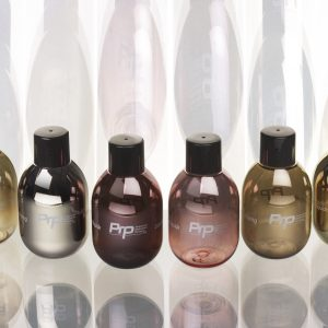 Metallic bottles for cosmetics by PRP Creation