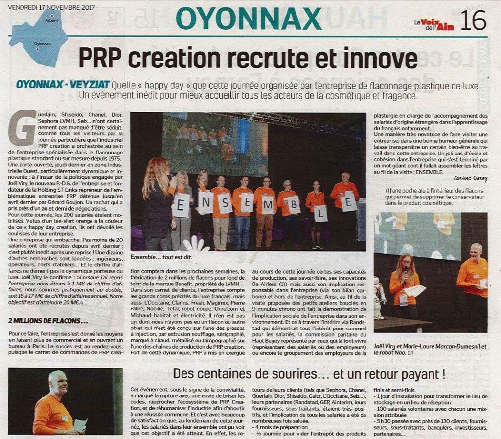 PRP absorbe SERMI-PLAST, devient PRP Creation et intégre le groupe STLinks